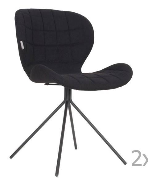 Zuiver Súprava 2 čiernych stoličiek Zuiver OMG