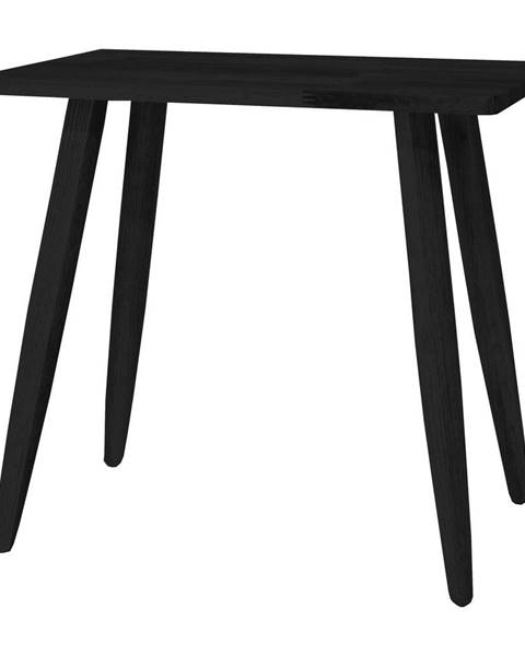 Canett Čierna stolička z dubového dreva Canett Uno