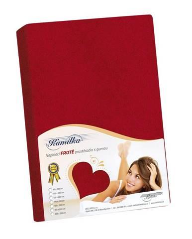 Bellatex Froté prestieradlo Kamilka červená, 120 x 200 cm