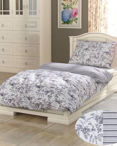 Kvalitex Bavlnené obliečky Provence Montera sivá, 140 x 200 cm, 70 x 90 cm
