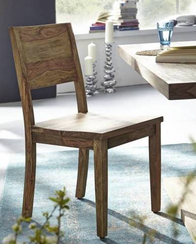 NATURAL Jedálenská stolička drevená, palisander