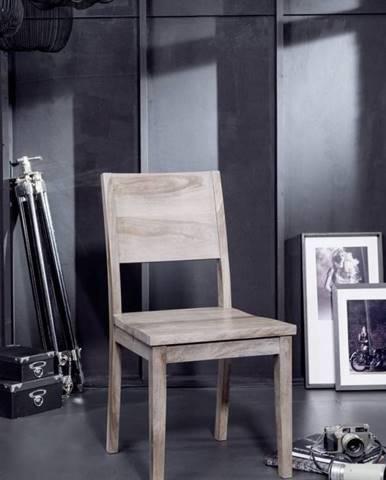 ROUND Stolička drevená plné operadlo, dymová, palisander