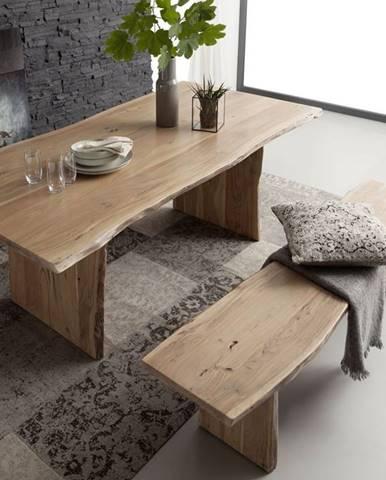 WOODLAND Jedálenský stôl 220x100 cm, prírodná, akácia