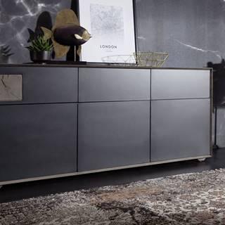 TAMPERE Komoda I. 78x180 cm, dub, dymová