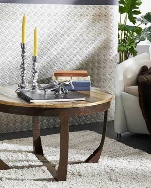 Bighome.sk INDUSTRY Konferenčný stolík 75x75 cm, staré drevo