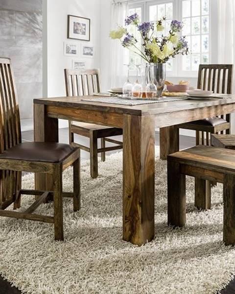 Bighome.sk PLAIN SHEESHAM Jedálenský stôl 240x100 cm, palisander