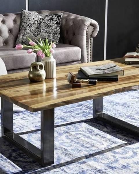 Bighome.sk ROUND Konferenčný stolík METALL 110x60 cm, hnedá, palisander