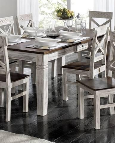 ANTIK Jedálenský stôl 130x90 cm, mango a akácia