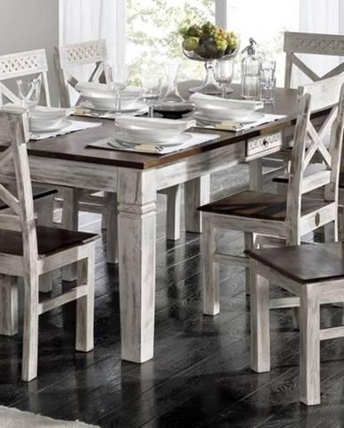 ANTIK Jedálenský stôl 190x90 cm, mango a akácia