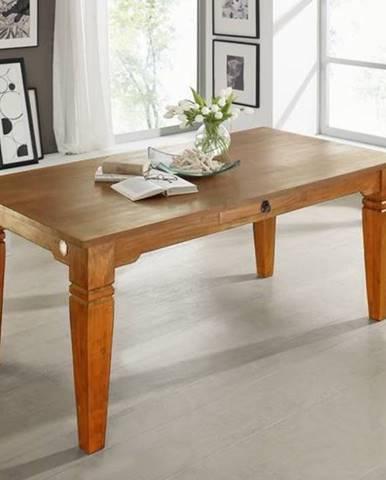 CAMBRIDGE HONEY Jedálenský stôl s dvoma zásuvkami 200x100 cm, akácia