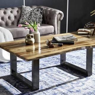 ROUND Konferenčný stolík METALL 110x60 cm, hnedá, palisander