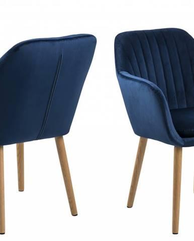 Jedálenská stolička s opierkami EMILIA, modrá