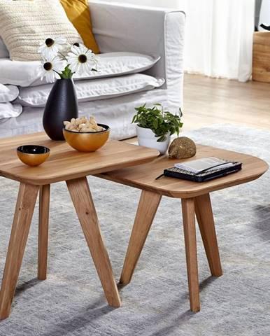 DARWIN Konferenčný stolík 2set 50x50 cm, dub