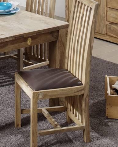 LIGHT WOOD Jedálenská stolička čalúnené sedadlo, palisander