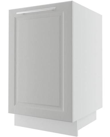 Kuchynská skrinka Emporium D1D/50 light grey stone/biela