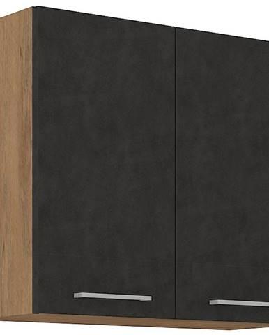 Skrinka do kuchyne Vigo grafit 80G-2F