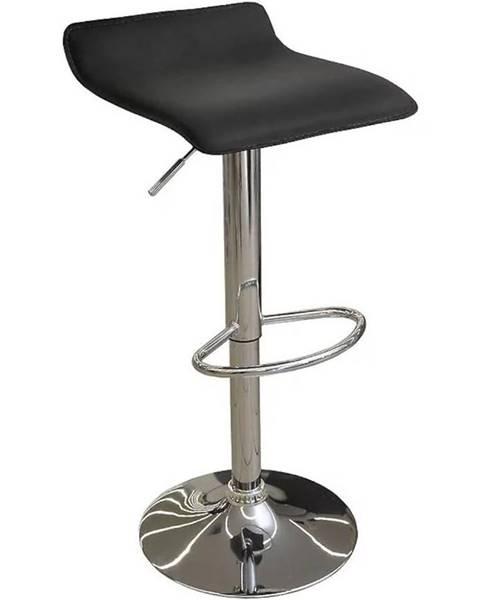 MERKURY MARKET Barová stolička Kwadro čierna 7316