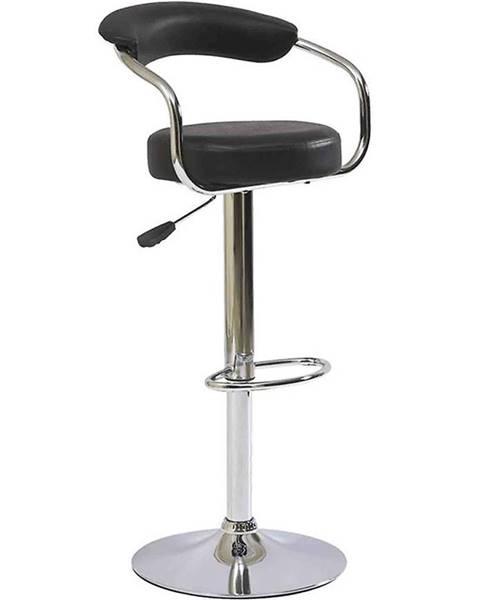 MERKURY MARKET Barová stolička Strong čierna 7121