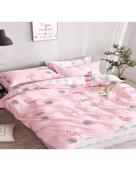 MERKURY MARKET Bavlnená saténová posteľná bielizeň albs-01019b/2 140x200 lasher