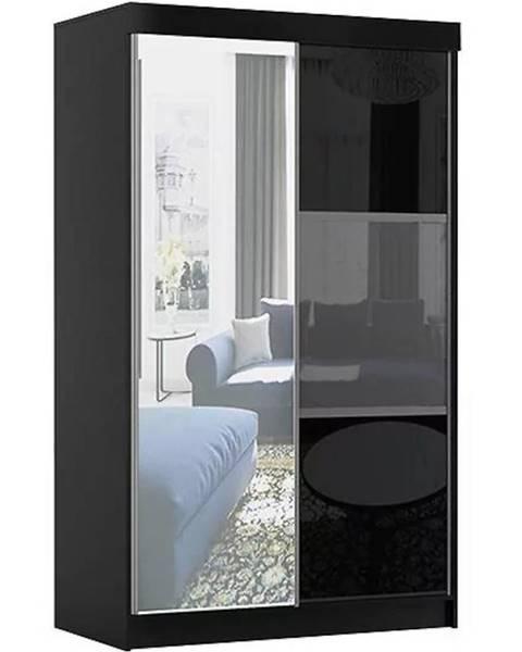 MERKURY MARKET Skriňa Rumba 120 cm + zrkadlo