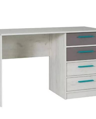 Písací stôl Rest r06 popiel/dub biely 120/60