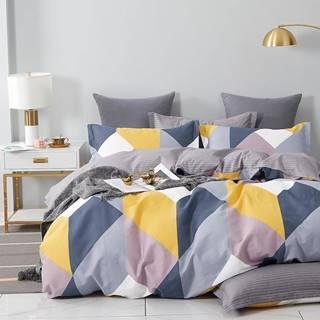 Bavlnená saténová posteľná bielizeň ALBS-01224B 160X200