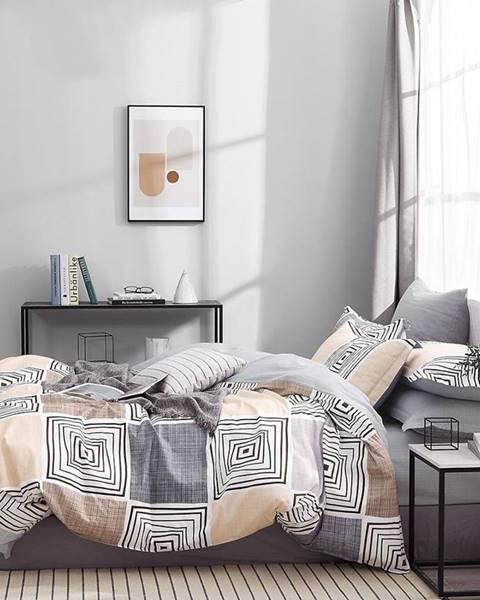 MERKURY MARKET Bavlnená saténová posteľná bielizeň ALBS-01218B