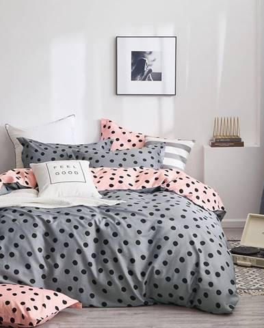 Bavlnená saténová posteľná bielizeň ALBS-01171B/3 200x220