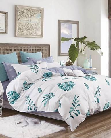 Bavlnená saténová posteľná bielizeň ALBS-01176B/3 160x200