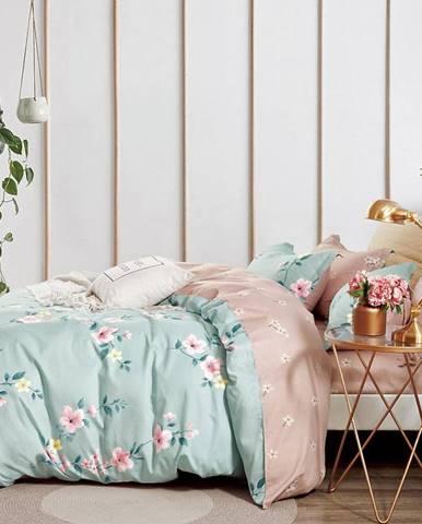 Bavlnená saténová posteľná bielizeň ALBS-01182B/3 160x200
