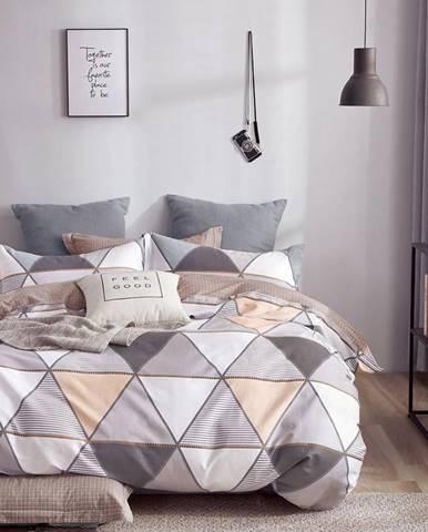 Bavlnená saténová posteľná bielizeň ALBS-01183Bx3 200x220