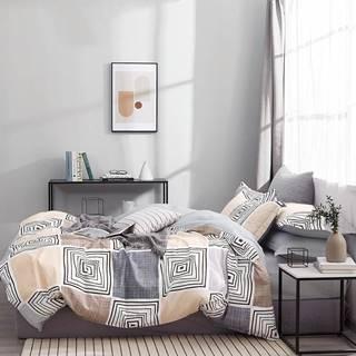 Bavlnená saténová posteľná bielizeň ALBS-01218B