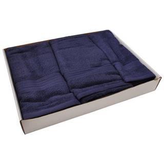 Set uterákov frotte 3cz tmavomodrý (550GSM)