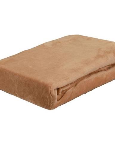 Plachta na postel Mikroflanel 90x200 káva