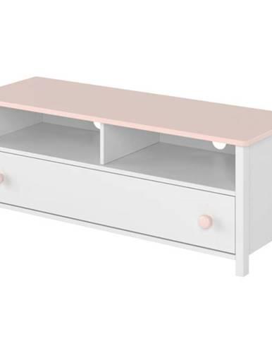 TV stolík 1S Luna LN-13 biely/ružové
