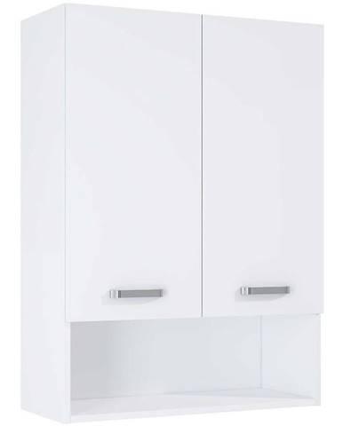 Závesná kúpeľňová skrinka nad práčkou Uno 70 2D white