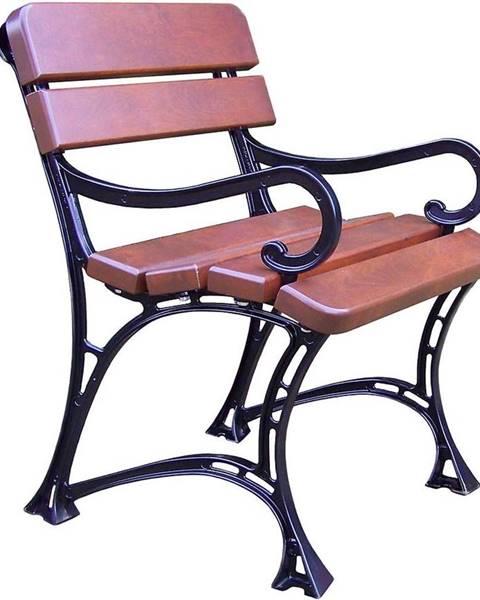 MERKURY MARKET Záhradná stolička kráľovská s opierkami orech