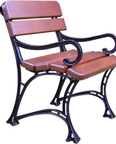 Záhradná stolička kráľovská s opierkami orech