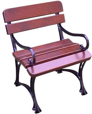 Záhradná stolička kráľovská s opierkami višna