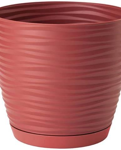 Sahara Petit okrúhly s podstavcom 17 cm červená