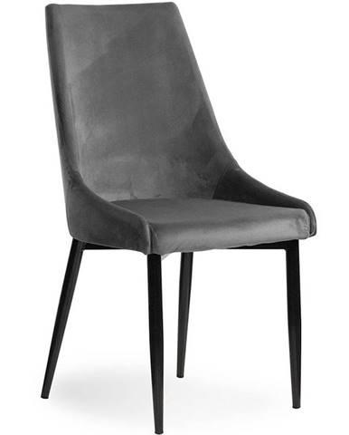 Stolička Luis Velvet šedá/ čierne nohy