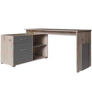 Písací stôl Como Korner dąb wellington/grafiti 60