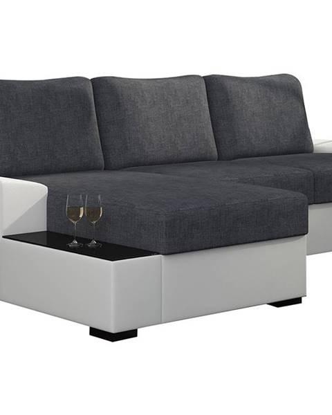 NABBI Nettuno L rohová sedačka s rozkladom a úložným priestorom sivá (Sawana 05)