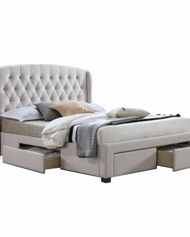 Akana 160 manželská posteľ 160x200 cm krémová