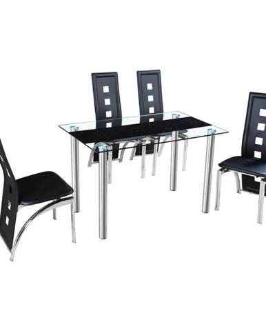 Ester sklenený jedálenský stôl oceľová