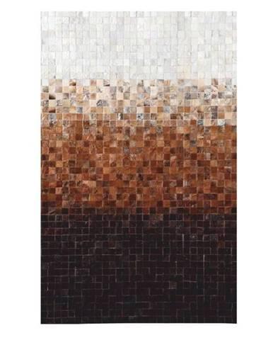 Typ 7 kožený koberec 200x300 cm vzor patchwork