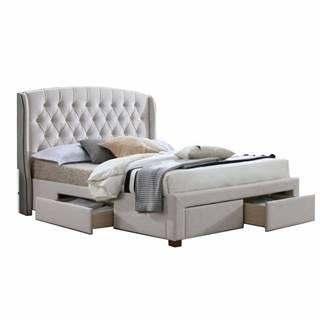 Akana 180 manželská posteľ 180x200 cm krémová