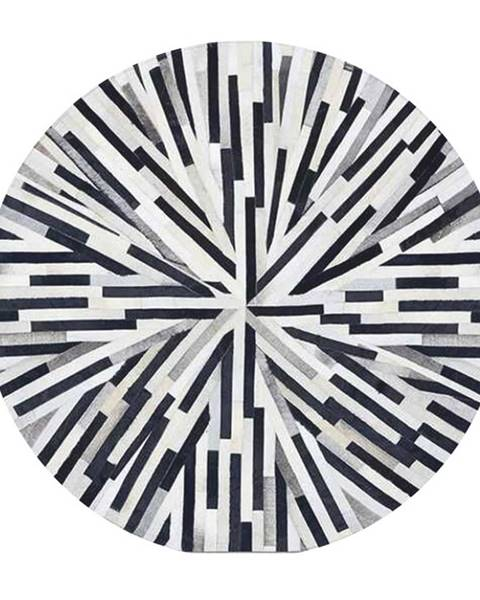 Tempo Kondela Typ 8 kožený koberec 150x150 cm vzor patchwork