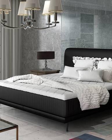 Ancona 160 čalúnená manželská posteľ čierna (Soft 11)