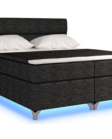 Avellino 140 čalúnená manželská posteľ s úložným priestorom čierna (Berlin 02)